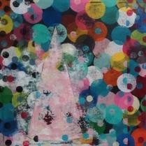 Pink Cap Acrylic on Canvas, 22x22 ©2013 Kyle Labinsky